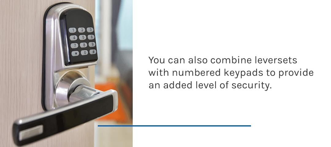 door handle keypad